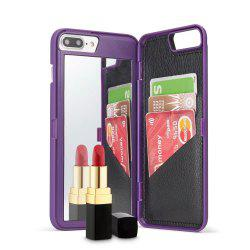 Luxury Mirror Flip Phone Cover for iPhone 8 Plus  / 7 Plus Case Girl -
