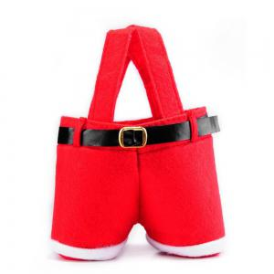 2PCS Christmas Present Candy Bags Santa Pants Style for Wedding Holiday New Year Holiday Christmas Decorations -