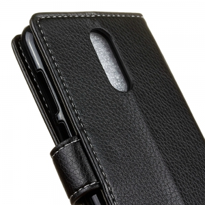 Litchi Pattern PU Leather Wallet Case for MOTO M -