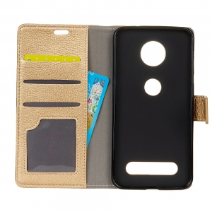 Litchi Pattern PU Leather Wallet Case for MOTO Z Force 2017 -