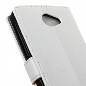 Litchi Pattern PU Leather Wallet Case for BQ AQUARIS U Lite -