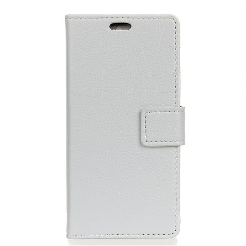 Fashion Litchi Pattern PU Leather Wallet Case for BQ AQUARIS U Plus
