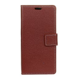 Litchi Pattern PU Leather Wallet Case for BQ AQUARIS U Plus -