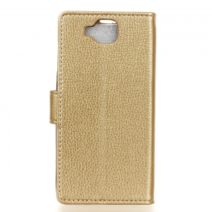 Litchi Pattern PU Leather Wallet Case for BQ U2  Life -