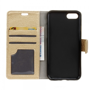 Litchi Pattern PU Leather Wallet Case for One Plus 5 -