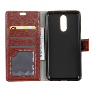 Litchi Pattern PU Leather Wallet Case for Xiaomi Redmi Note 4 -