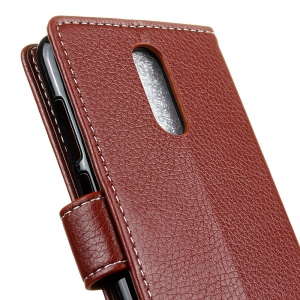 Litchi Pattern PU Leather Wallet Case for  Xiaomi Redmi Note 4X -