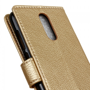 Litchi Pattern PU Leather Wallet Case for Huawei Enjoy 6 -