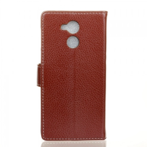 Litchi Pattern PU Leather Wallet Case for Huawei Enjoy 6S -