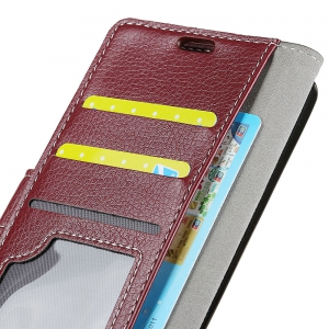 Litchi Pattern PU Leather Wallet Case for Huawei Enjoy 7 -