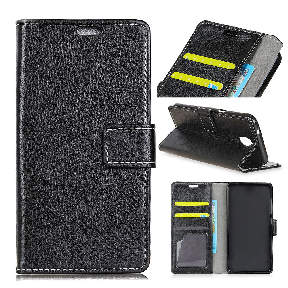 Best Litchi Pattern PU Leather Wallet Case for Huawei Enjoy 7