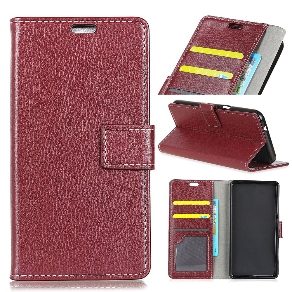 Unique Litchi Pattern PU Leather Wallet Case for Huawei Enjoy 7
