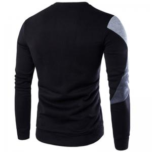 Spring New Men'S Casual Long-Sleeved Wind Hit The Color Stitching Hedging Sweatshirt -