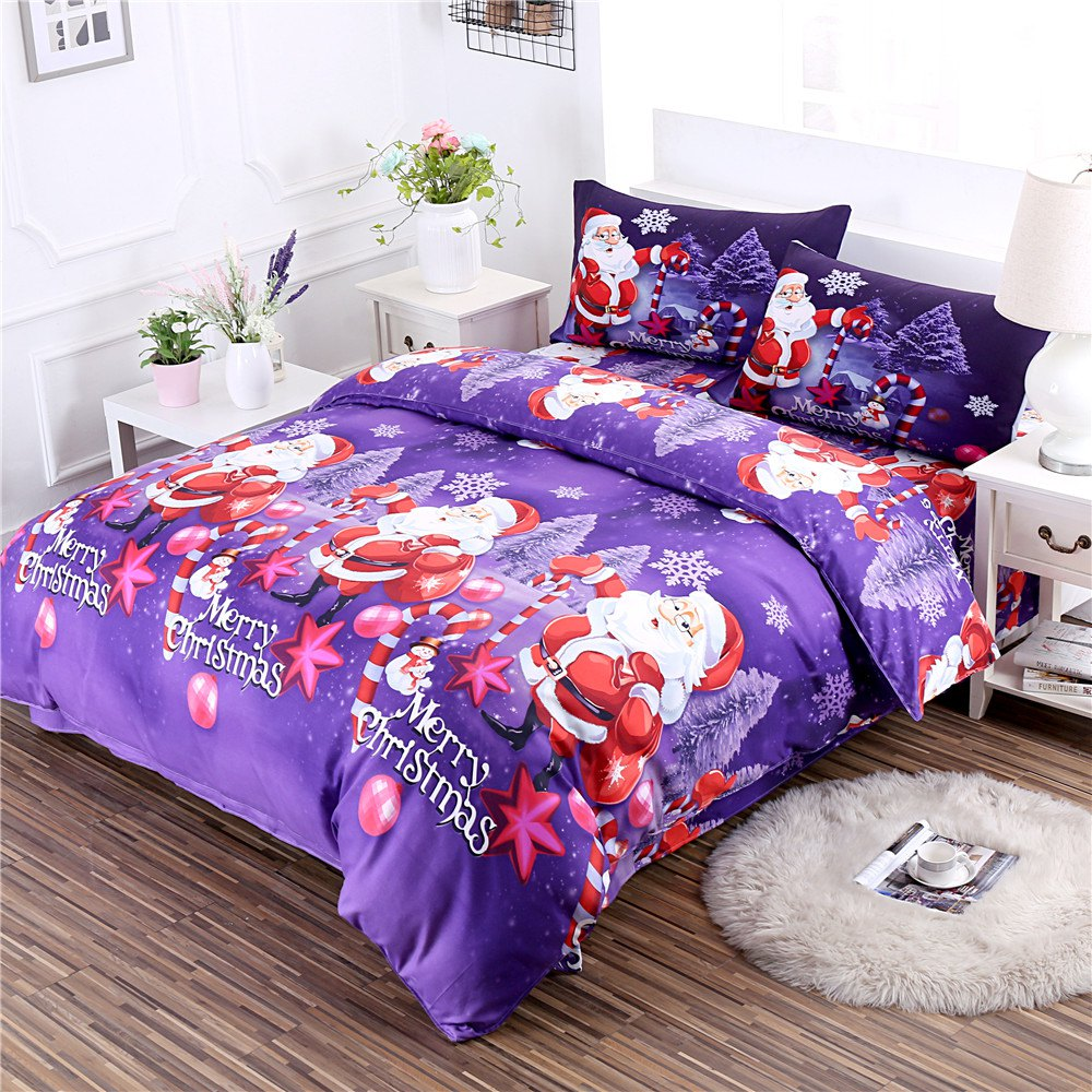 Affordable Merry Christmas Santa Claus Bedding Sets