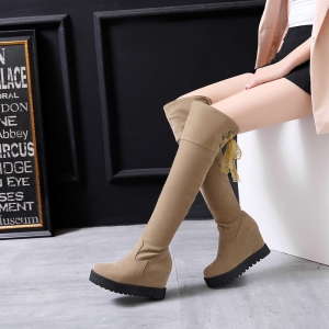 Increase  Fashion Slim Lace Thigh Boots -