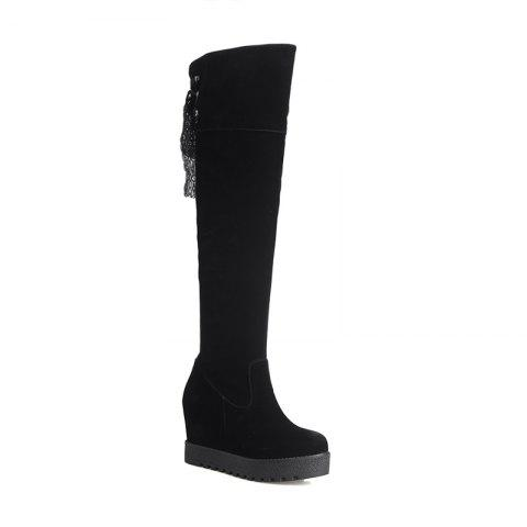 Affordable Increase  Fashion Slim Lace Thigh Boots