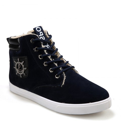 Chic Wild Plus Velvet High Winter  Men'S Shoes