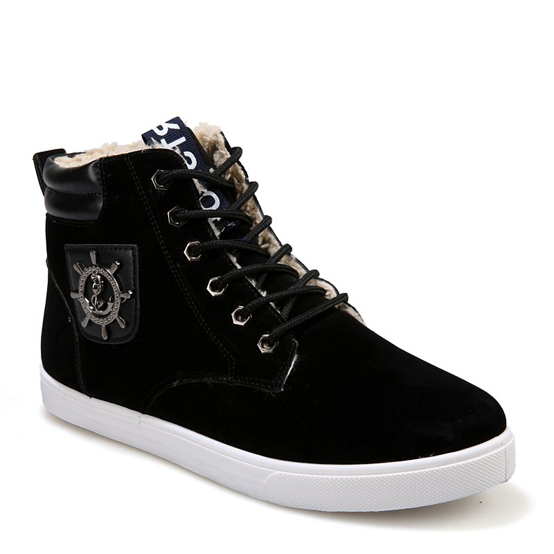 Shop Wild Plus Velvet High Winter  Men'S Shoes