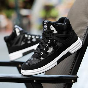 Autumn and Winter High Top Plus Velvet Casual Sports Men'S Shoes -