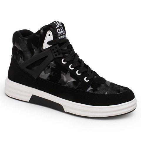 Cheap Autumn and Winter High Top Plus Velvet Casual Sports Men'S Shoes