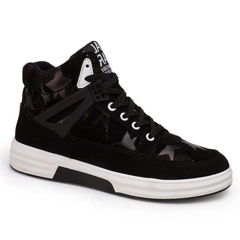 Fashion Autumn and Winter High Top Plus Velvet Casual Sports Men'S Shoes