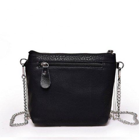 Shop Women's Crossbody Beaded Tassel Embellished Mini Bag