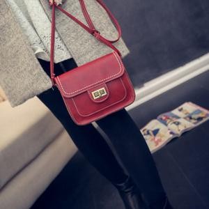 Women's Crossbody Retro Solid Color All Match Dainty Chain Bag -