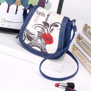 Women's Crossbody Vintage Casual Colorblock Hollow Out Bag -