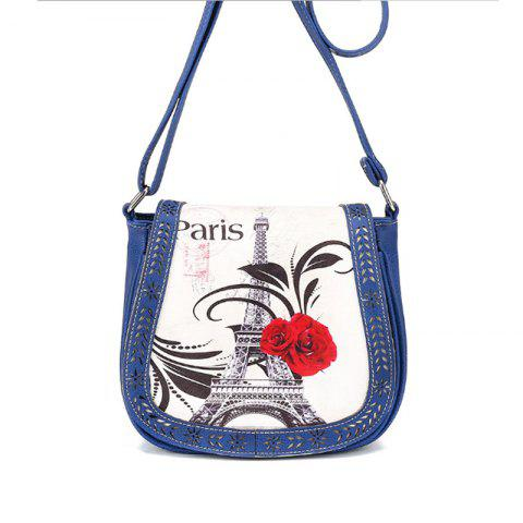 Fashion Women's Crossbody Vintage Casual Colorblock Hollow Out Bag