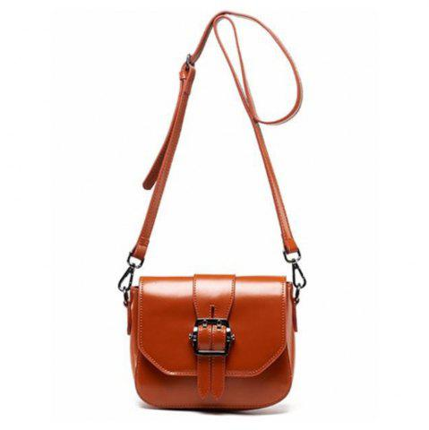Chic Women's Shoulder Buckle Pattern Roomy Women's Bag