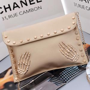 Women's Crossbody Fashion Personality Rivet Chain Bag -
