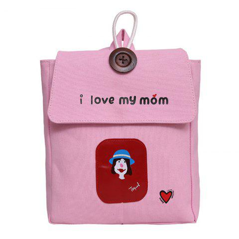 Store Women's Backpack Preppy Style Personalized Character Letter Casual Bag