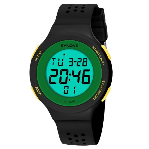 Fancy SYNOKE 67866 Slim Trendy Waterproof Unisex Electronic Watch