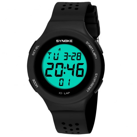 Sale SYNOKE 67866 Slim Trendy Waterproof Unisex Electronic Watch