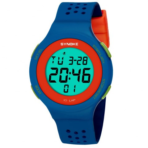 Affordable SYNOKE 67866 Slim Trendy Waterproof Unisex Electronic Watch