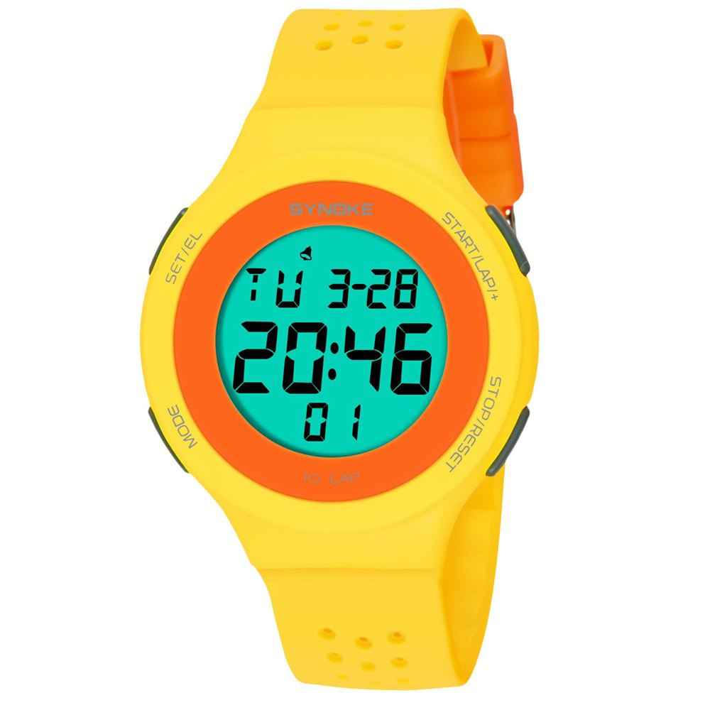 Online SYNOKE 67866 Slim Trendy Waterproof Unisex Electronic Watch