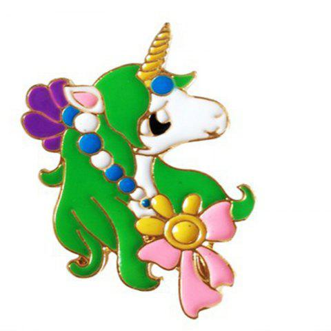 Online 2017 Newest Design Oil Unicorn Alloy Brooch Pin for Christmas Gift