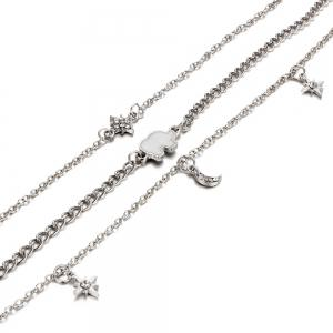 Women Gift Elephant Charms Choker Necklace -
