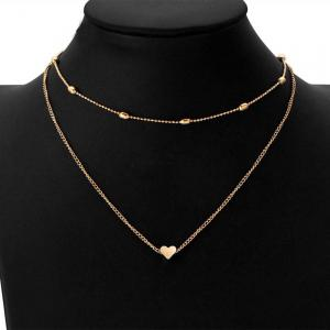 New Design Brass Heart Short Female Necklace -