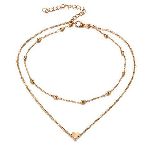 Trendy New Design Brass Heart Short Female Necklace