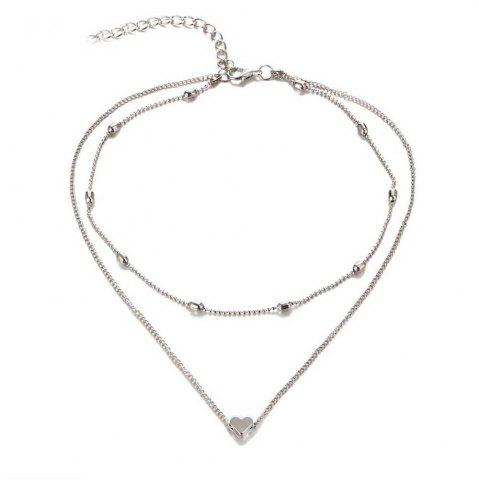 Chic New Design Brass Heart Short Female Necklace