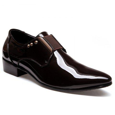 Cheap New Bright Black Leather Shoes Korean Version Young Men'S Shoes