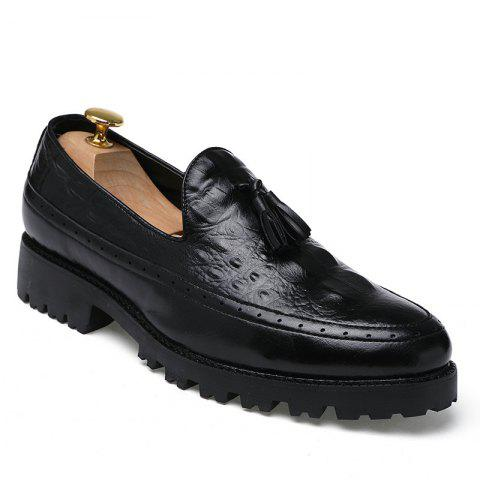 Outfit Alligator Leather Shoes Business Trend Vintage British Style Tassel Leisure Men'S Shoes