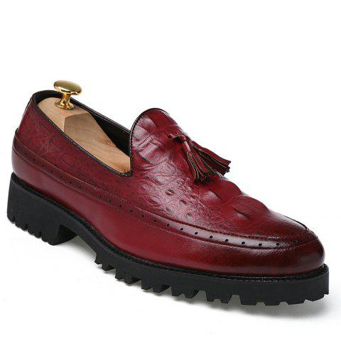 Buy Alligator Leather Shoes Business Trend Vintage British Style Tassel Leisure Men'S Shoes