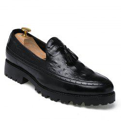 Alligator Leather Shoes Business Trend Vintage British Style Tassel Leisure Men'S Shoes -