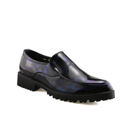 Fashion Leather Club Trend Casual Bright Face Men'S Shoes