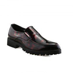 Leather Club Trend Casual Bright Face Men'S Shoes -