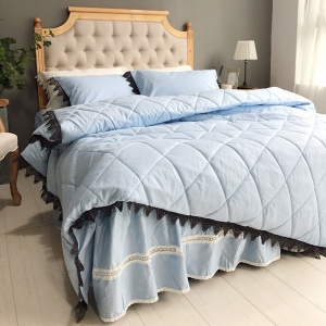 Blue Quilting Cover Bedding Set -