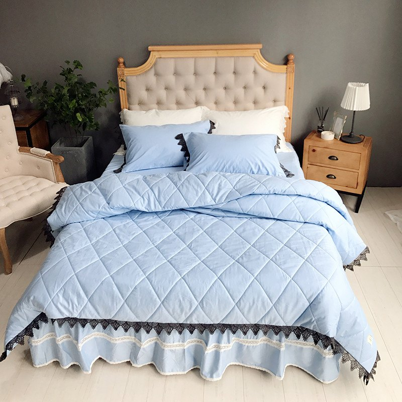 Outfit Blue Quilting Cover Bedding Set
