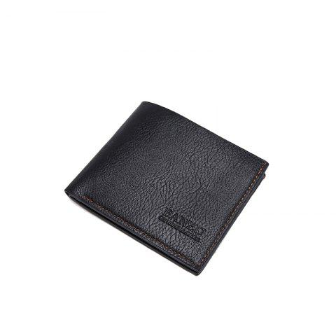 Discount Men's Simple Business Casual Wallet Leather Card Holder Purse